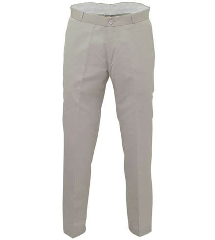 Relco Mens Stay Press Stone Beige Trousers Sta Press Retro Mod Skin Ska VTG